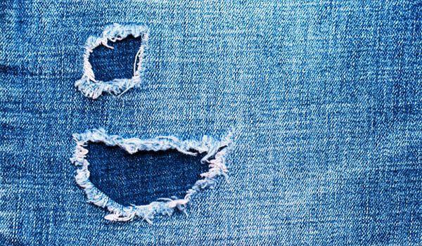 como arreglar desgaste de jeans