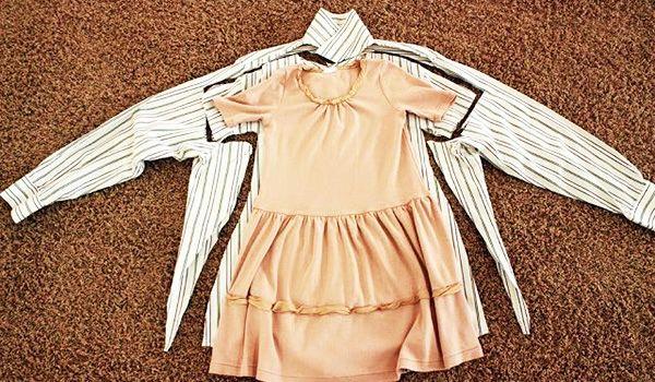vestido de niña con camisa