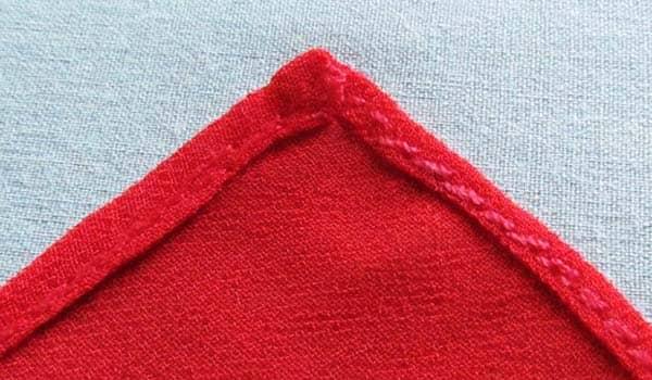 como hacer orillo pañuelo