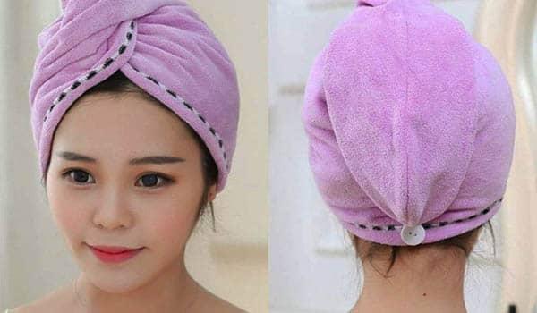 como hacer una toalla para el cabello